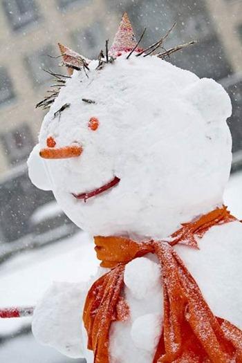 Снеговик на Майдане