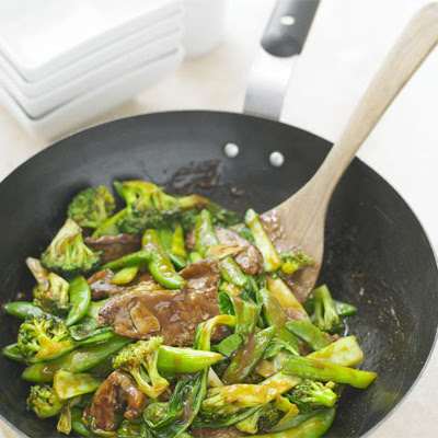 Sticky Green Stir-fry With Beef