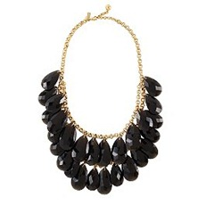 KS - cascade bib necklace