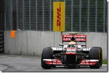 Hamilton nelle prove libere del gran premio del Canada 2012