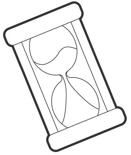Worksheet. Dibujo de un reloj para pintar  Imagui
