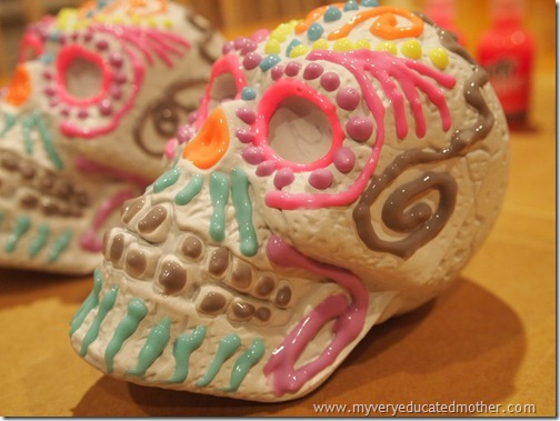 @mvemother Glow in the Dark Day of the Dead Skulls4