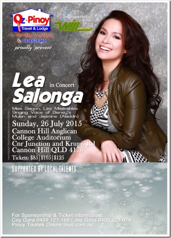 Lea Salonga Brisbane Concert 26July2015