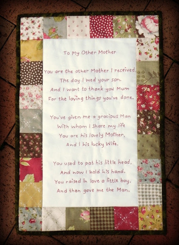 To My Other Mother - Wall Hanging