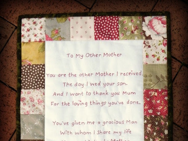 STITCHING: To My Other Mother  {Tutorial + Pattern}