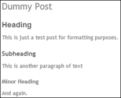 Sample Formatting 3