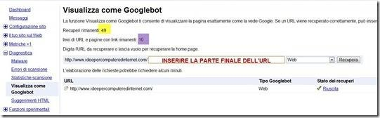 visualizzare come googlebot