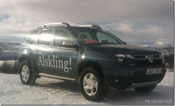 Dacia Duster in de winter 04