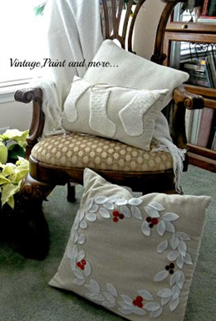 Handmade Holiday Pillows by Vintage Paint and More