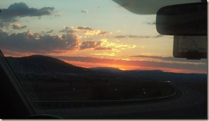 sunset on the way home