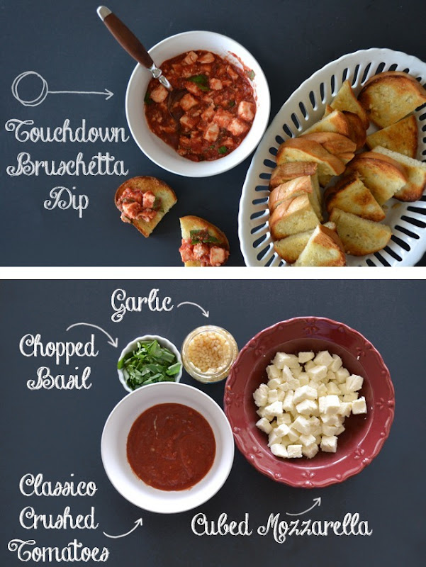 Easy Touchdown Bruschetta Dip
