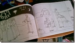 sample image, Every Picture Tells a Story (parsha colouring book)