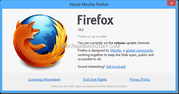 Download Mozilla Firefox 18.0 2013 Final Web Browser - Faster, More Reliable, And More Customizable