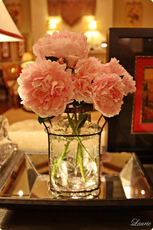 peonies pink & vase