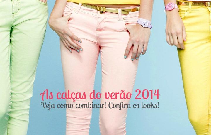 como usar calcas coloridas moda verao 2014