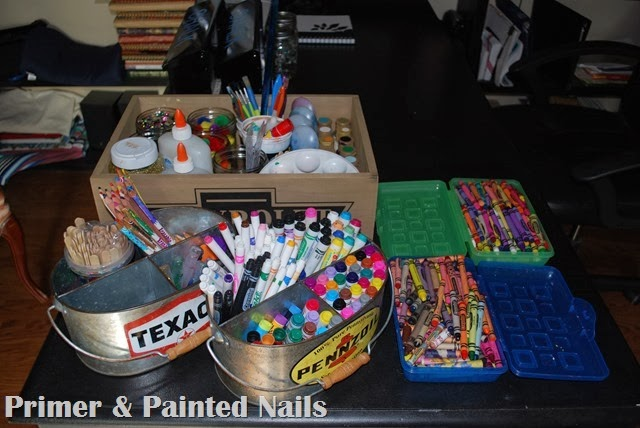 Art Supplies Organized - Primer & Painted Nails