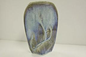 Hand Made Tulip  Blue Vase