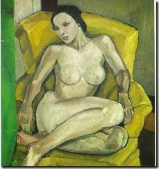 Nude in a Yellow Chair, Belle Baranceanu