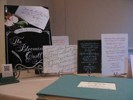 Blooming Quill Calligraphy showed off their beautiful work.