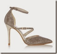 Karen Millen Glitter Fabric Court Shoe
