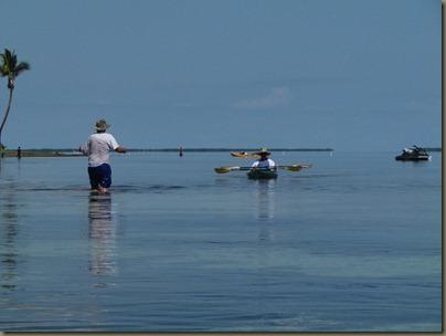 kayaking around sunshine key, looking for paddle