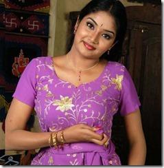 Lakshana in blue_dress