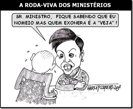 Charge_Dilma_Ministerios_Revista_Veja_Harley_Coqueiro