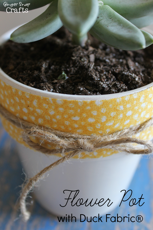 Flower Pot with Duck Fabric®  #ducktape #tutorial GingerSnapCrafts.com