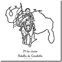 Dibujos colorear 24 de Junio Batalla de Carabobo  Colorear