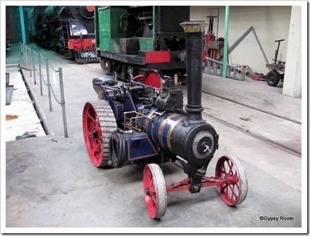 Miniature steam traction engine hidden away at Plains Museum.