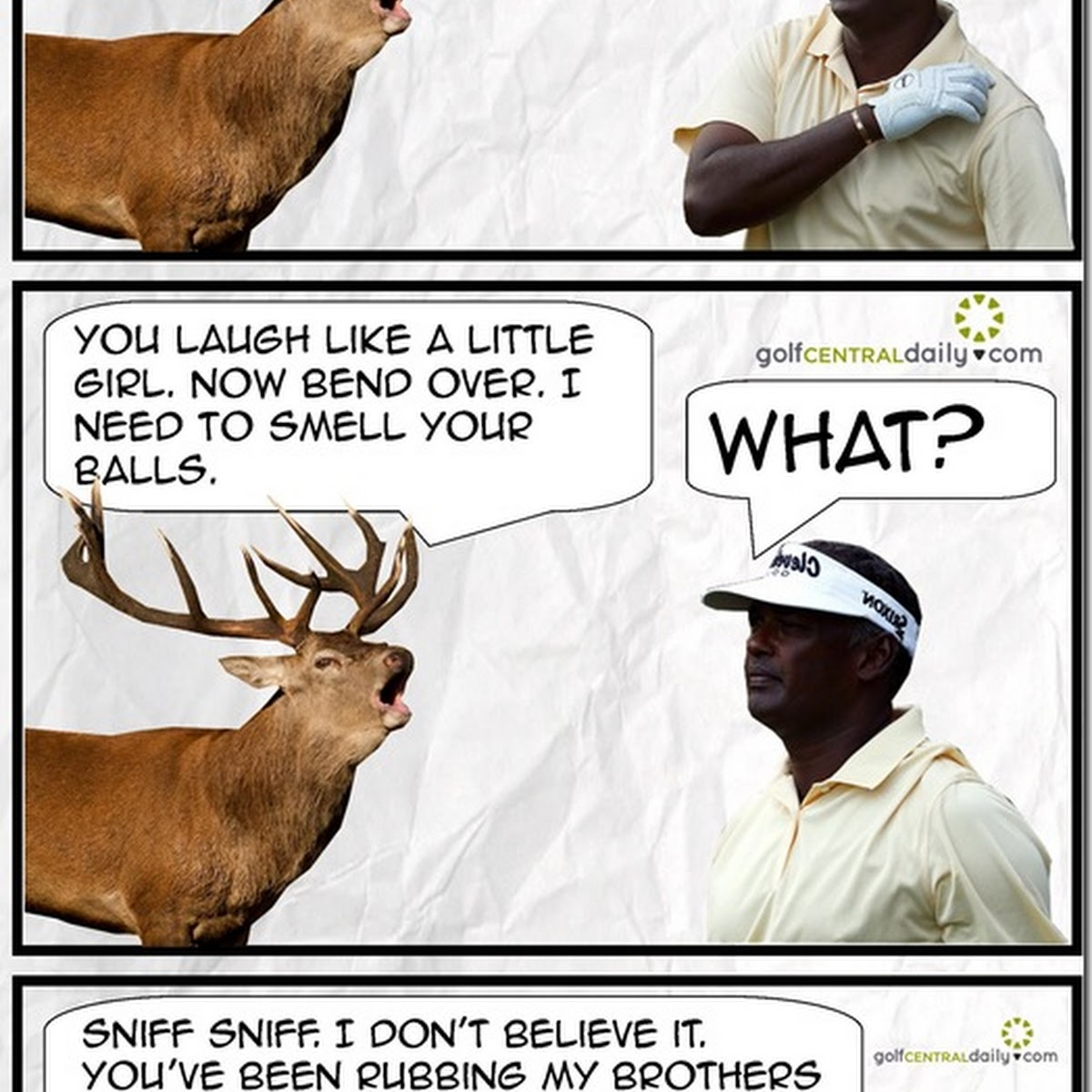 Pictorial Exclusive: What The Deer Said To Vijay Singh