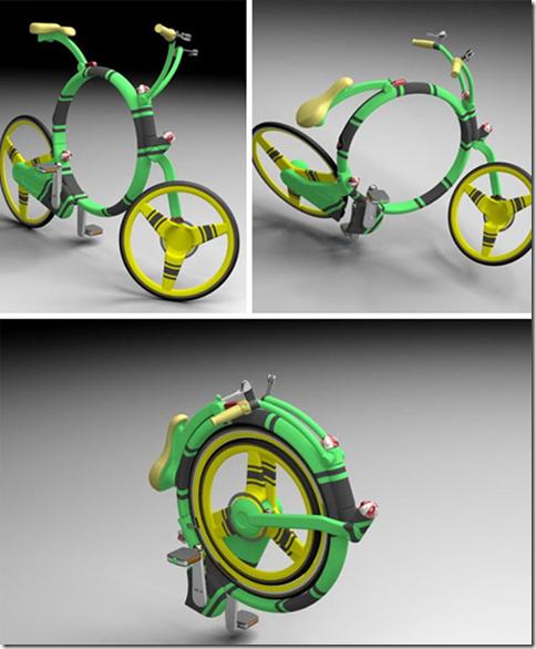 Design Bicicleta enrolável