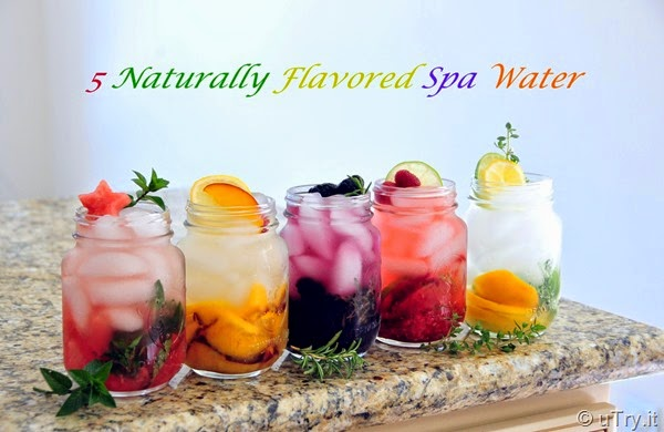 5 Naturally Flavored Spa Water    http://utry.it