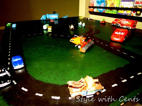 disney cars hot wheels race track 4