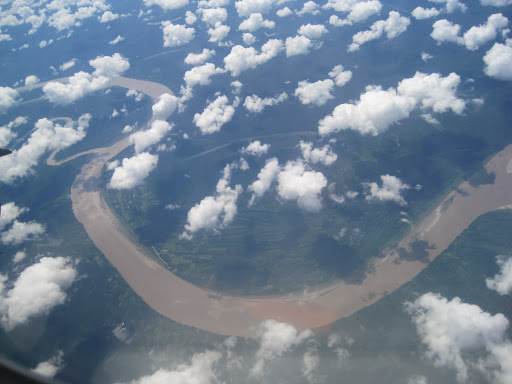 The Amazon River as seen from our departing flight