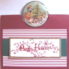 2011 Holiday.Christmas cards snowglobe popup