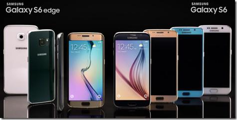 Samsung Galaxy S6 perheen värivaihtoehdot