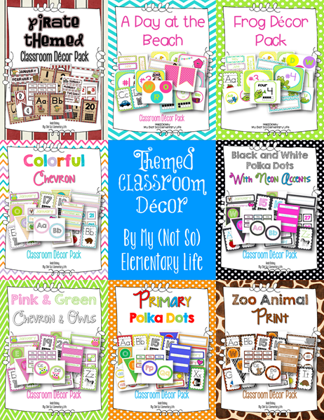 themed classroom decor snapshot