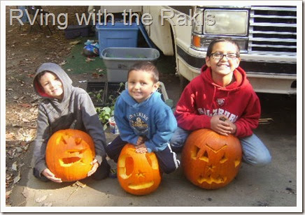 Pumpkin fun in our RV - from RVing with the Rakis