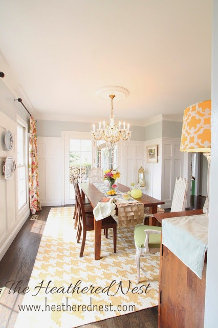 bright and colorful dining room