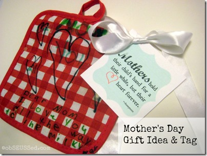 Mothers Day Craft Hot Pad Tag obSEUSSed