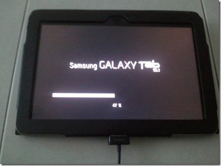 Samsung Galaxy Tab 10.1 Firmware Update - Installing