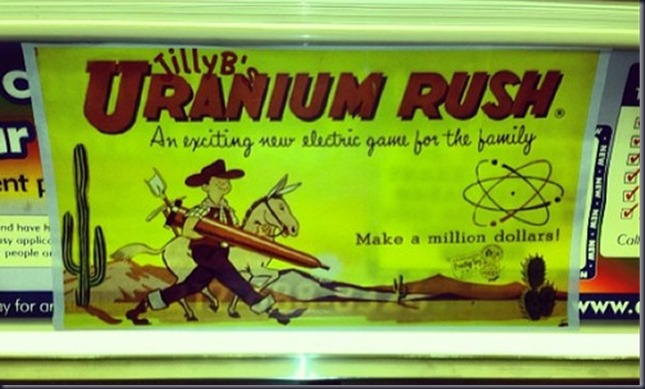 ad for JillyB's Uranium Rush-An exciting new electric game for the family. (G train; car 5023)