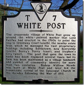 White Post - Marker T-7 in Clarke County, VA (Click any photo to enlarge)