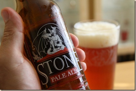 Stone Pale Ale in hand