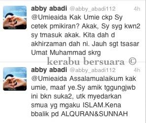 Abby Abadi Jawab Tuduhan Umie Yang Mengatakan Dia Cetek Pemikiran