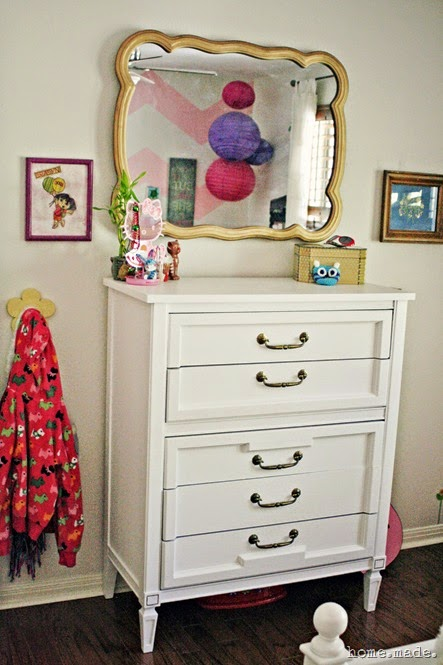 Dresser Redo and Golden Mirror Makeover
