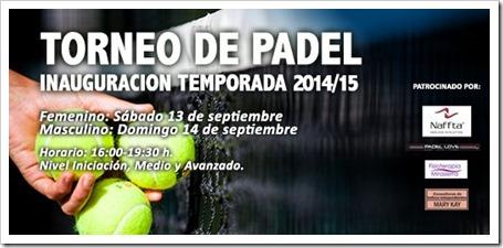 Torneo de Pádel Golf Canal abierto a todos, inauguración de la temporada 2014/15.