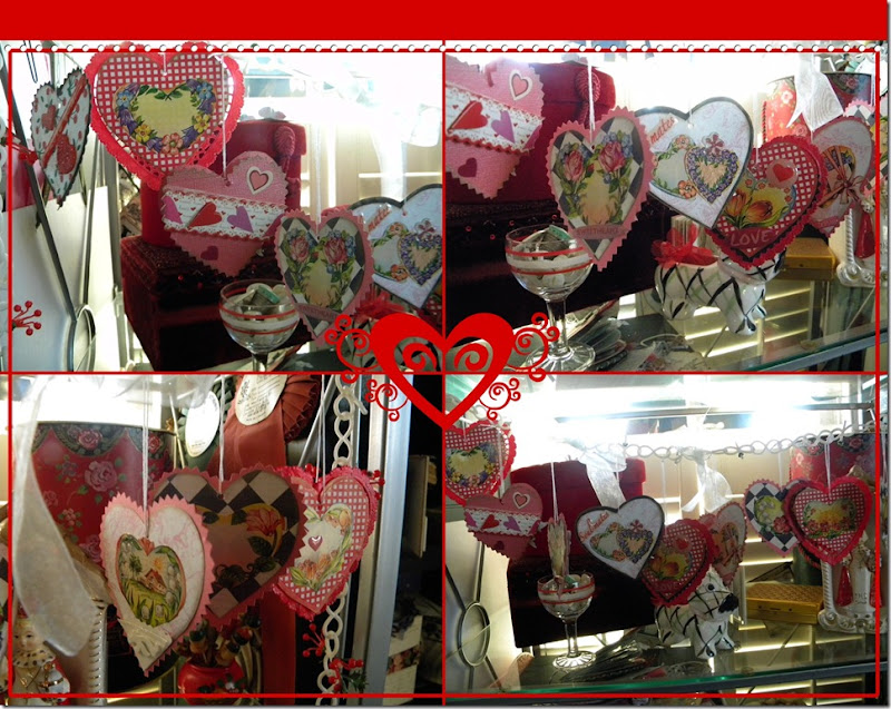 valentine garland collage