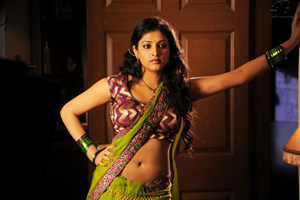 Haripriya Hot & Spicy Stills in Green Saree